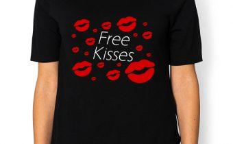 Free Kisses - koszulka charytatywna - bluzka damska