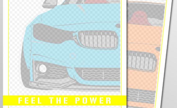 Projekt Reklamowy Notes klejony BMW M4