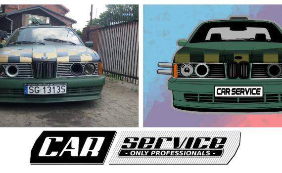 CarService projekt reklamowy