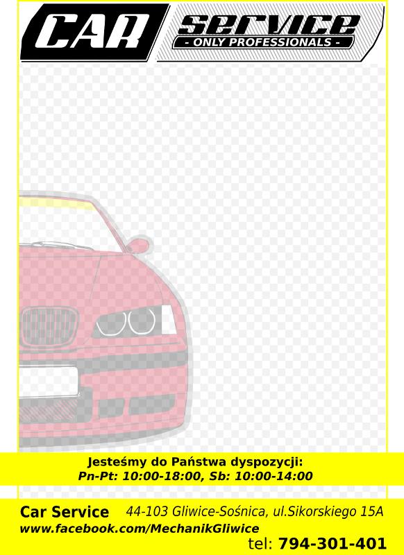 CarService projekt reklamowy notesów firmowych