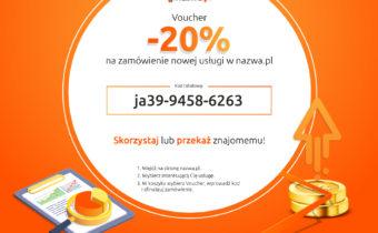 Kod rabatowy na usługi nazwa.pl