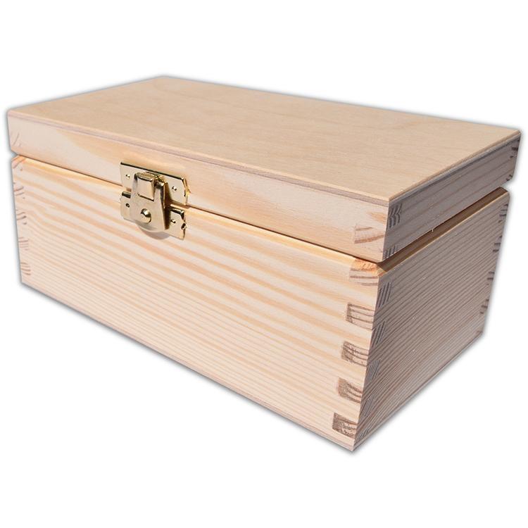 Szkatułka drewniana mała - naturalne drewno - ze znakowaniem lub bez!