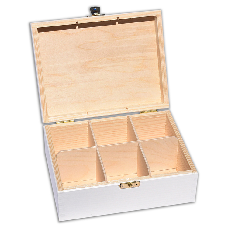 Szkatułka drewniana biała - naturalne drewno - ze znakowaniem lub bez!