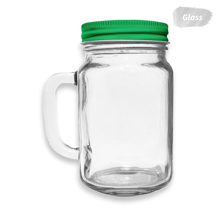 Szklany kubek słoik ze słomką - ze znakowaniem lub bez
