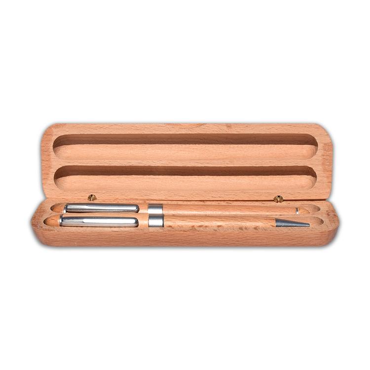 Zestaw piśmienny drewniany - naturalne drewno - ze znakowaniem lub bez!