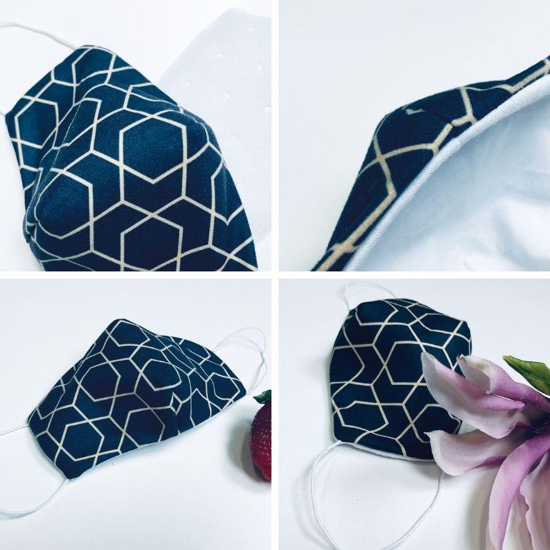 Maski na twarz - maseczka bawełniana z nadrukiem