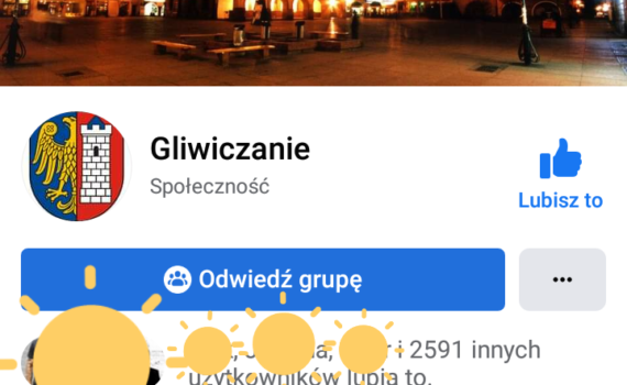 Strona FB Gliwic - Gliwiczanie