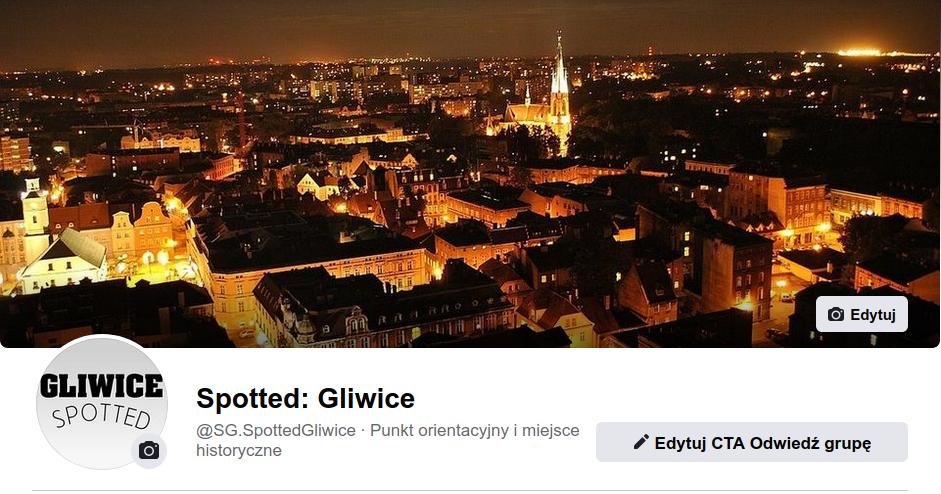 Reklama gliwickiej firmy na Spotted:Gliwice
